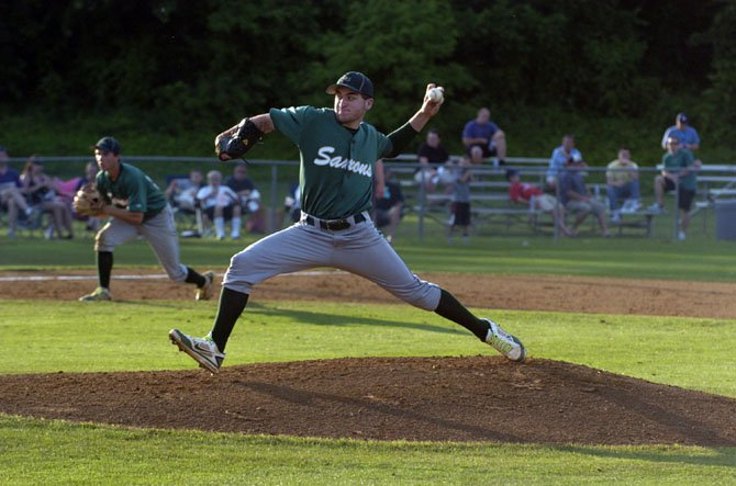 It was a tough outing for Saxon southpaw Jonathan O'Connor, who gave the Saxons his best in four innings of work.