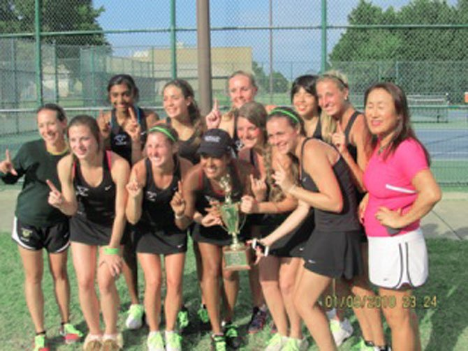 The Langley High girls' tennis team following its state finals win over Mills Godwin.