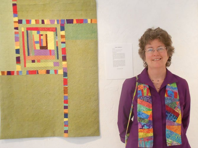 Cindy Grisdela is a fiber artist who creates contemporary quilted wall hangings. An exhibit of her work is showing at the Great Falls library through June 30.