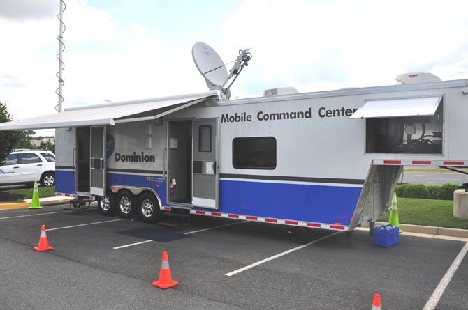 Dominion Power's Mobile Command Center, which provides field crews with a link to corporate facilities during emergencies. The center was deployed to Norfolk during Tropical Storm Ida, as well as Richmond, Charlottesville and North Carolina during recent events.