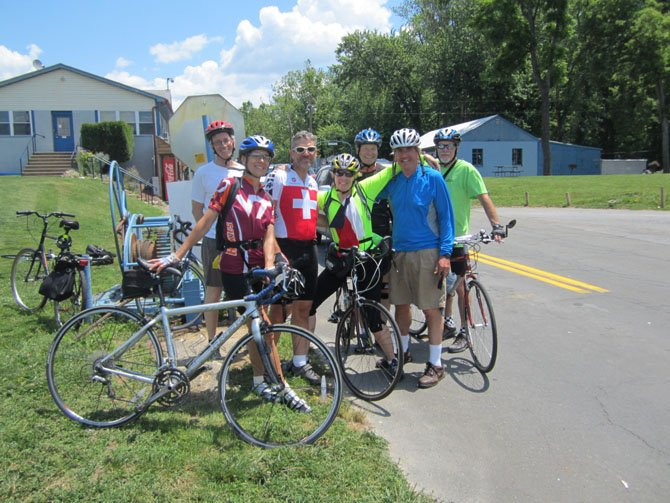 Eleven members of the Arlington 55+ Biking Group made an 80 mile roundtrip ride from Rosslyn to Leesburg, on June 8. Jennifer Collins, sports coordinator for the Office of Senior Adult Programs, said  the ride was scheduled to take 10 hours from start to finish and included pedaling on hilly two-lane roads in Montgomery County, Md. and many miles on the W&OD bike trail. For more information about the 55+ Biking Group, email, 55plusbikinggroup@arlingtonva.us or call 703-228-4771.