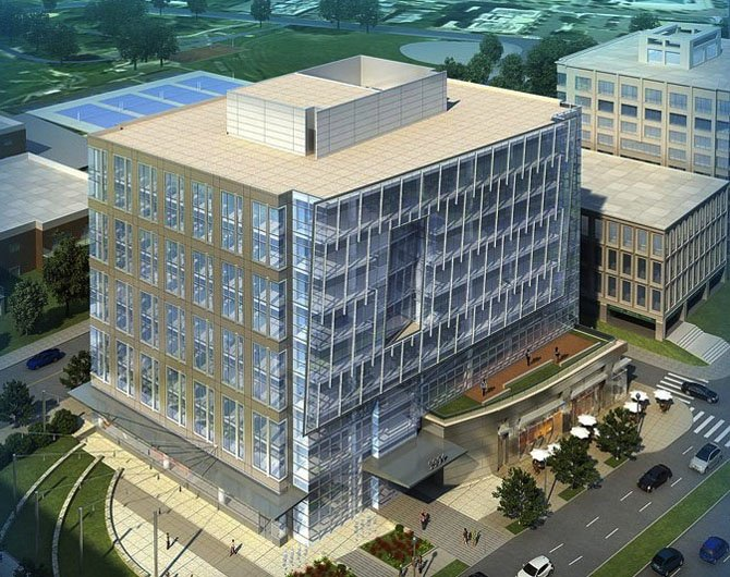 In exchange for bonus density at the Arlington Funeral Home site in Ballston, a developer is building a new theater for Arlington.