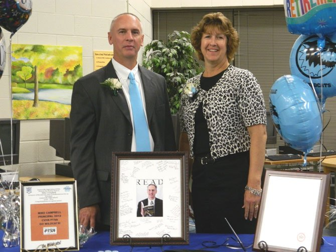 Centreville High School Principal Mike Campbell and his wife, Becky.