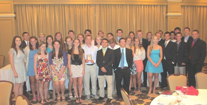 The 2012 Vienna Youth Inc. scholarship winners and MVPs.