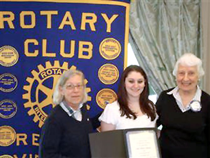 Pictured (left to right) are club President Nancy O'Reilly, Scholarship Recipient Julie Linovitz, and New Generations Chair Joyce Johnson.