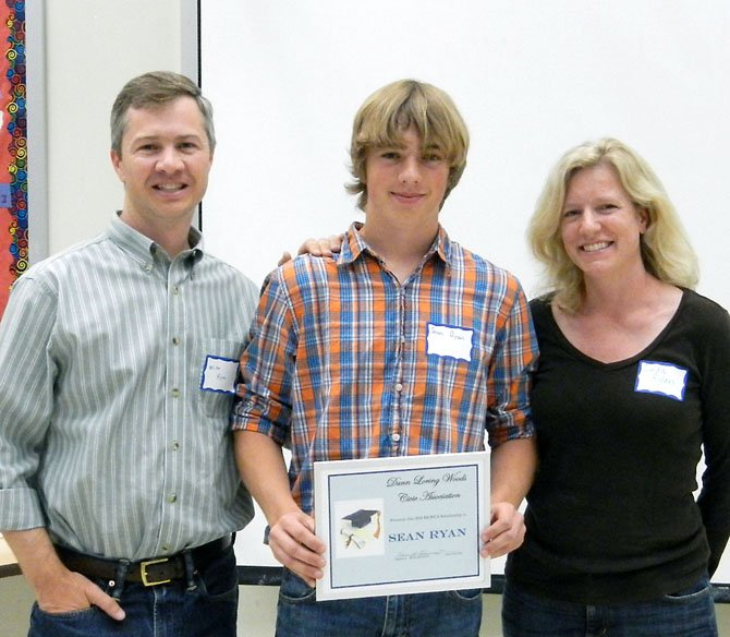 Sean Ryan (center) with his father Michael and mother Linda Ryan.
