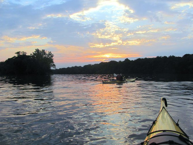 Sunset on the Potomac River just west of Riley's Lock.