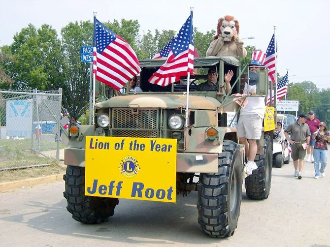 The Fairfax Host Lions Club drove an eye-catching caravan in the City of Fairfax Independence Day parade.