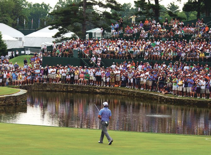 Rory McIlroy walk to the sixth green during the second round at the 2011 U.S. Open at Congressional Country Club in Bethesda, Md. on Friday, June 17, 2011.  (Copyright USGA/John Mummert)