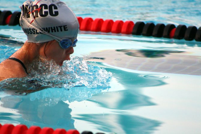 WGCC swimmer Campbell Musslewhite won the boys' 10U back and fly events against Congressional on July 3.
