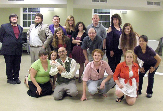 "The cast of the City of Fairfax Theatre Company's production of ""Into the Woods."" (Not pictured is Wendy Knight)."