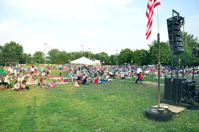 Hundreds gather for the annual Fourth of July celebration in Herndon Wednesday, July 4.