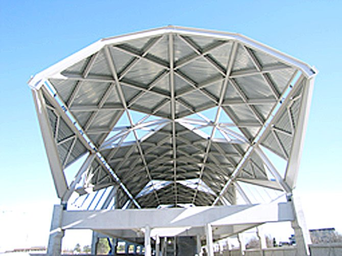 The Wiehle Avenue Station in the median of the Dulles International Airport Highway just west of Wiehle Avenue is the most advanced.