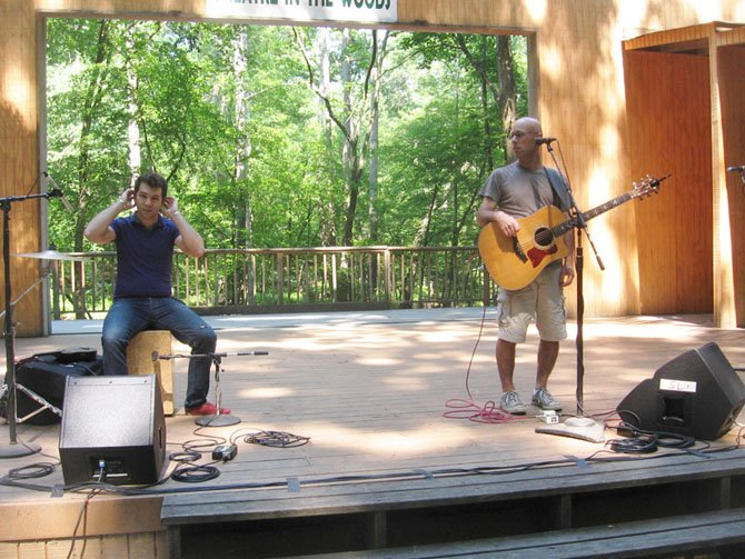 Vienna's own Robbie Schaefer, musician and children's music director at Sirius radio, performs at Wolf Trap's Theatre-in-the-Woods with colleague Ryan Buckle.