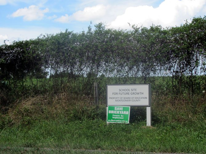 The new sign in front of the Brickyard Road farm site.