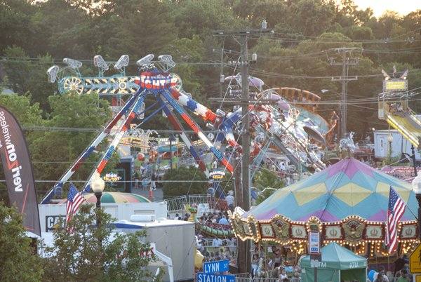 Carnival area of Herndon Festival.