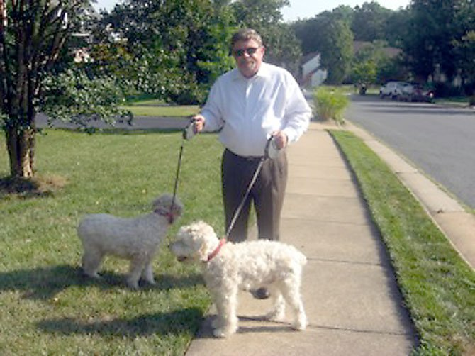 Jeff Redman with Annie (left) and Buddy (right).