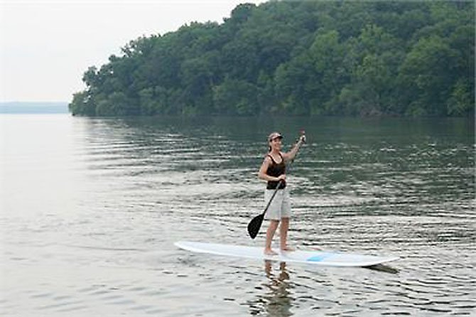 Pohick Bay Regional Park in Lorton is the only public park in Virginia that rents paddle boards.