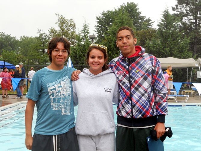 From left are Daniel Portilla, Caitlyn Harper and Chris Jones.