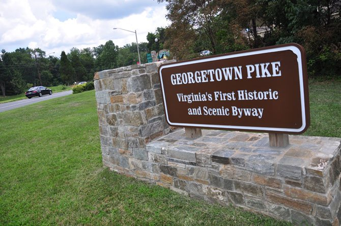 Georgetown Pike, the state's first scenic and historic byway, was named to the Virginia Register of Historic Places, and is up for national consideration.