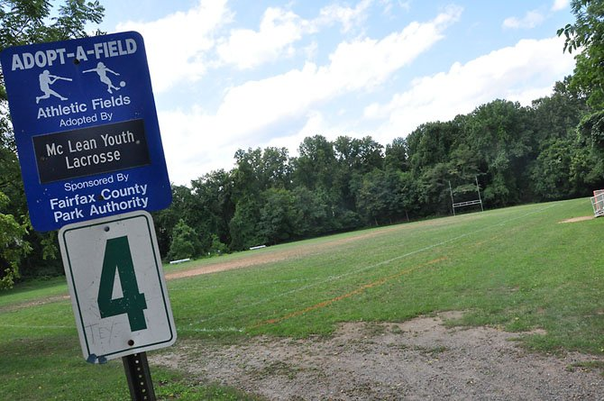 Field number four at Langley Fork Park, under master planning by the Fairfax County Park Authority. The field is one of two rectangular fields at the park, which some residents hope will eventually be refurbished.