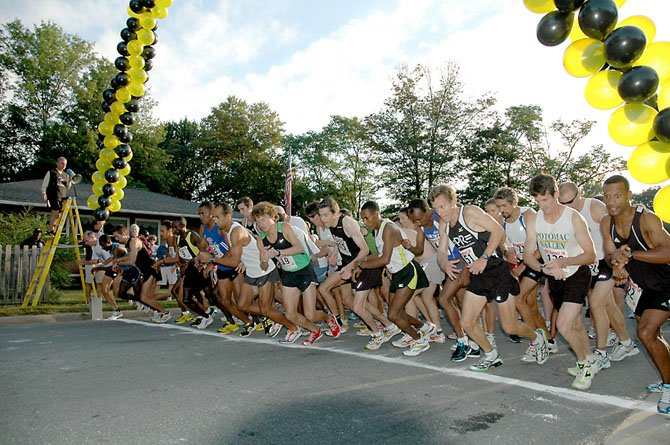 Ready to take off: The starting line at a previous Paul VI Runfest 5K race.