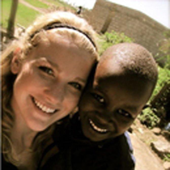 Jessica Shipman with Maspala Juma in Arusha, Tanzania.