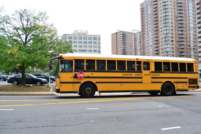 An Arlington school bus.