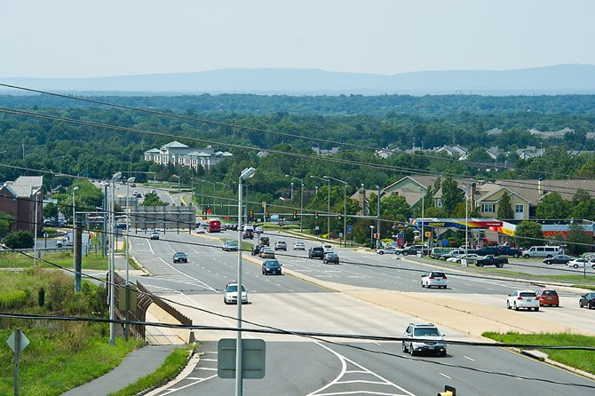 Supervisor Michael Frey's view of Centreville from Route 29 looking down toward the Shenandoah Mountains.