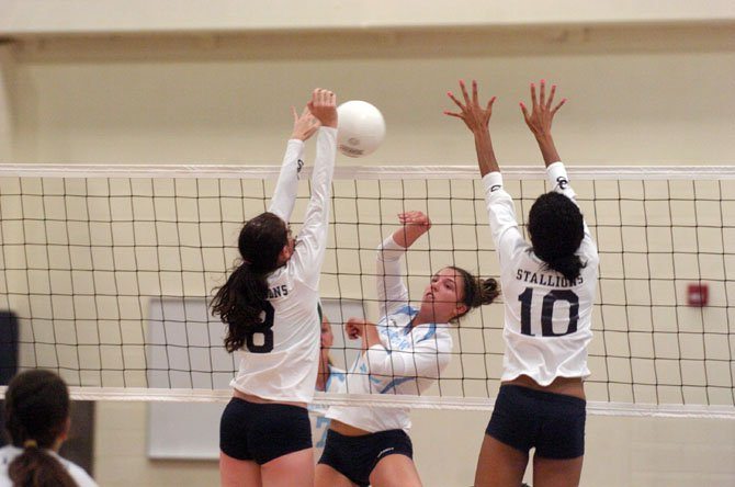 Yorktown junior Hayley Molnar tallied 20 kills in the Patriots season-opening victory against South County on Aug. 27.