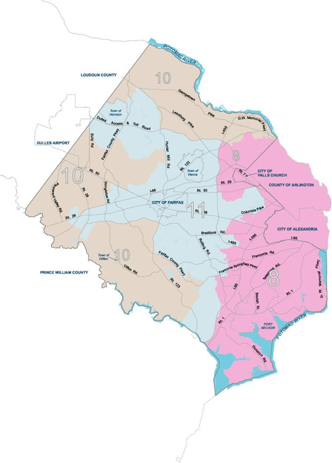 There have been major boundary changes in the Congressional districts serving Fairfax County since the last election two years ago.