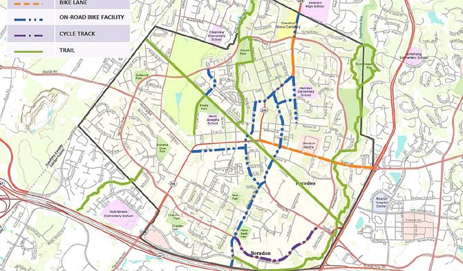 Fairfax County's bicycle transportation plan, as recommended by the comprehensive plan and the Pedestrian and Bicycle Committee recommendations.