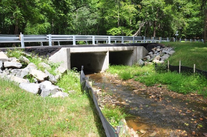 A temporary bridge and box culvert built on Beach Mill Road over Nichols Run. VDOT had proposed to close and build the new, permanent bridge starting this month, but moved it back to June 2013.
