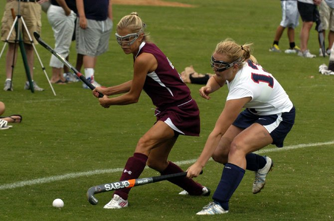 "Mount Vernon senior Ashleigh Sable scored two goals in the ""Under the Lights"" field hockey tournament Aug. 24-25 at Lee High School in Springfield."