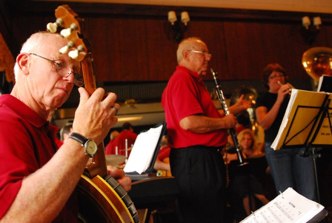 Greg Murphey plays a set with the Jefferson Street  Strutters  as they perform '20s and '30s jazz music inside Cedar Knoll Restaurant on Aug. 19. A new live concert series to emphasizing jazz music every month at the restaurant.