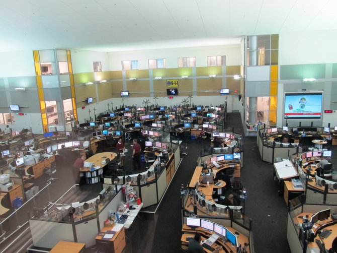 Fairfax County's 911 Call Center located in the McConnell Public Safety and Transportation Operations Center, named after former Fairfax County Supervisor Elaine McConnell.