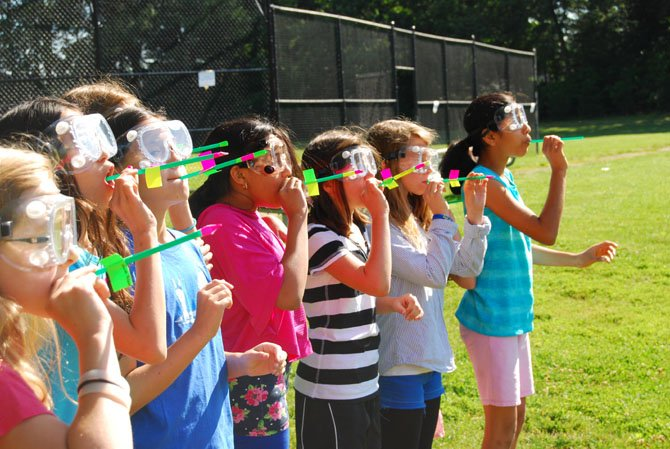 GFES fifth graders demonstrate Newton's laws of motion