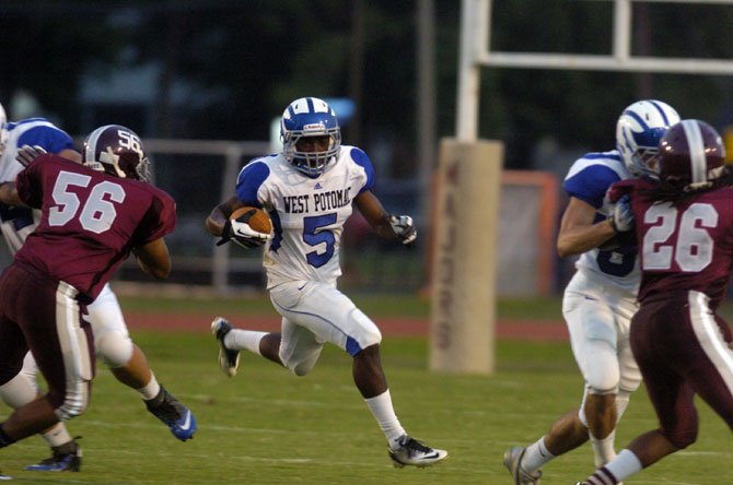 West Potomac running back Demornay Pierson-El scored two touchdowns against Mount Vernon on Aug. 30 at MVHS.