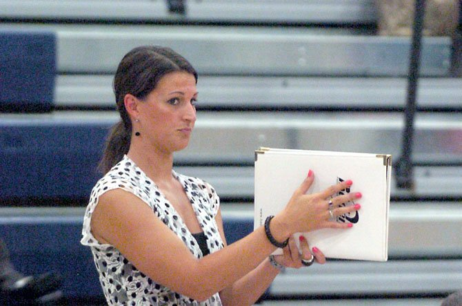 Trista Barnhart is in her second season as head coach of the South County volleyball team.