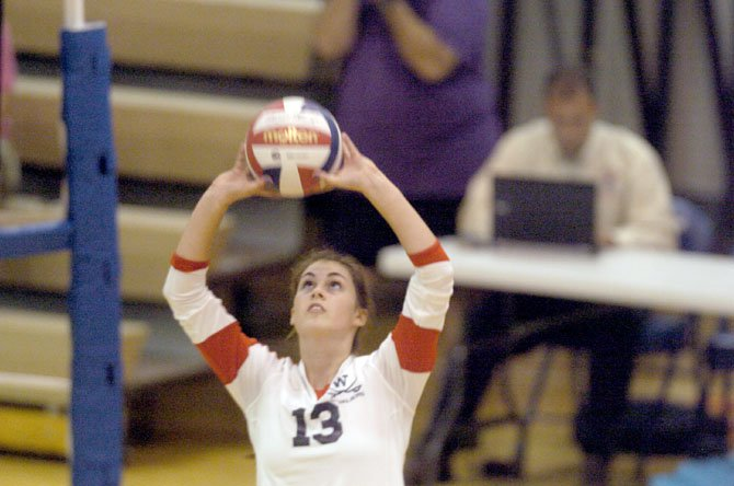 Woodson senior Caitlynn King had 14 kills and four aces against Chantilly on Sept. 4 at Woodson.
