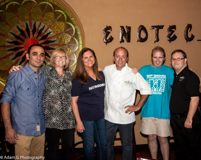 From left are Benny Geruardi, Mary Jane Gutkowski, Gina Latcheran, Gian Piero Mazi, Ryan Gutkowski and Eric Latcheran.