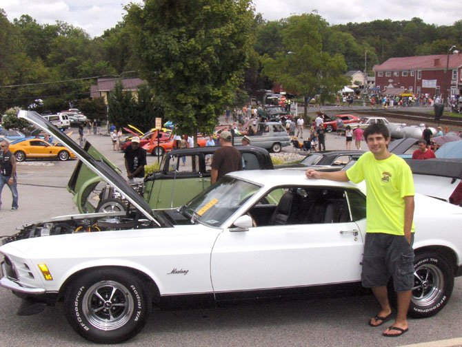 Chantilly's Matt Lilley stands by his 1970 Ford Mustang.