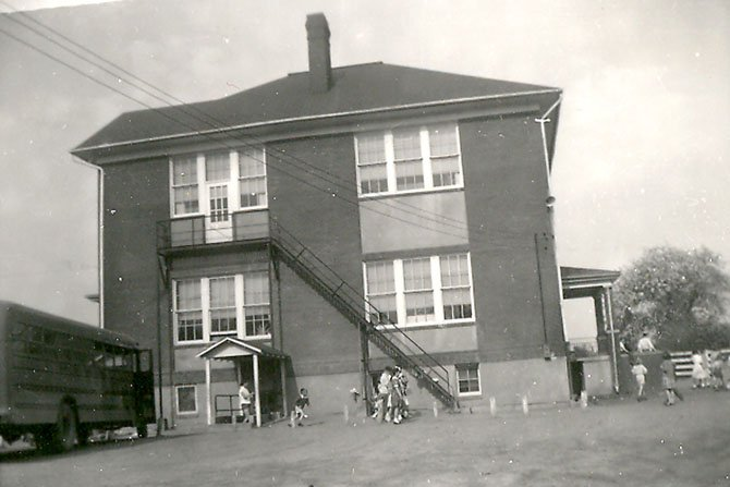 The Forestville School, which was located on Georgetown Pike where the Fire Department is now. The pike was named to the National Historic Register Aug. 22.