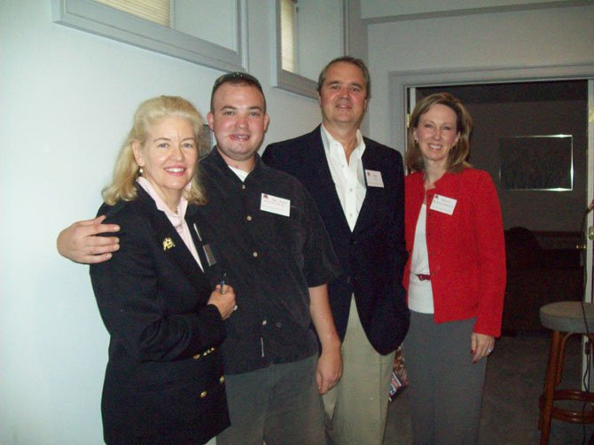 VP Erin Anderson, PRWClub, Marine Sgt. Kenneth Lyon, Ret., McLean businessman Tim Donner, State Del. Barbara Comstock (R-34).