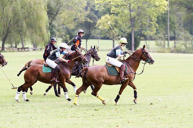 And they are off! The polo match begins during the sixth annual Ride to Thrive Polo Classic.