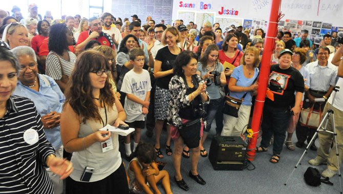 Hundreds of supporters and volunteers filled the OFA campaign office in the Sacramento Center.