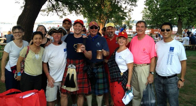 Team Tartan celebrates after fundraising more than $25,000 for blood cancer cures.