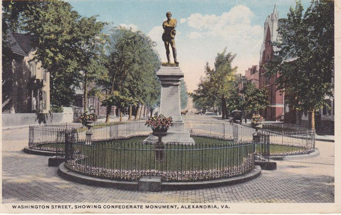 The confederate statue in Alexandria was commemorated on May 24, 1889, and was placed symbolically where Alexandria's young men marshaled before leaving the city in the face of overwhelming Union forces.