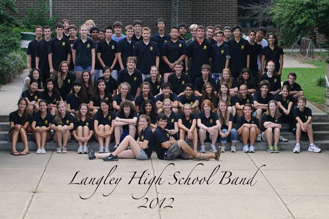 The Langley High School Marching Band.