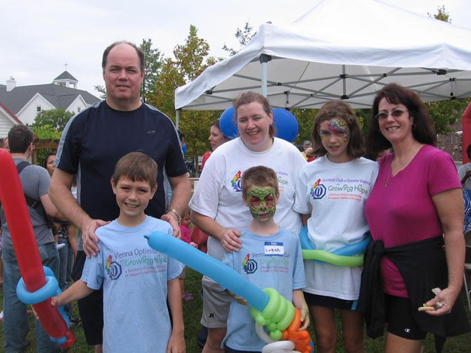 The Jones' family supports Growing Hope and the Optimists' Walk & Family Fun Day.